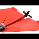 Elektronisch papieren vliegtuigje