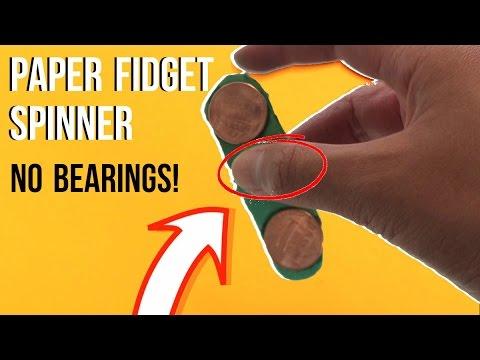 Fidget spinner van papier